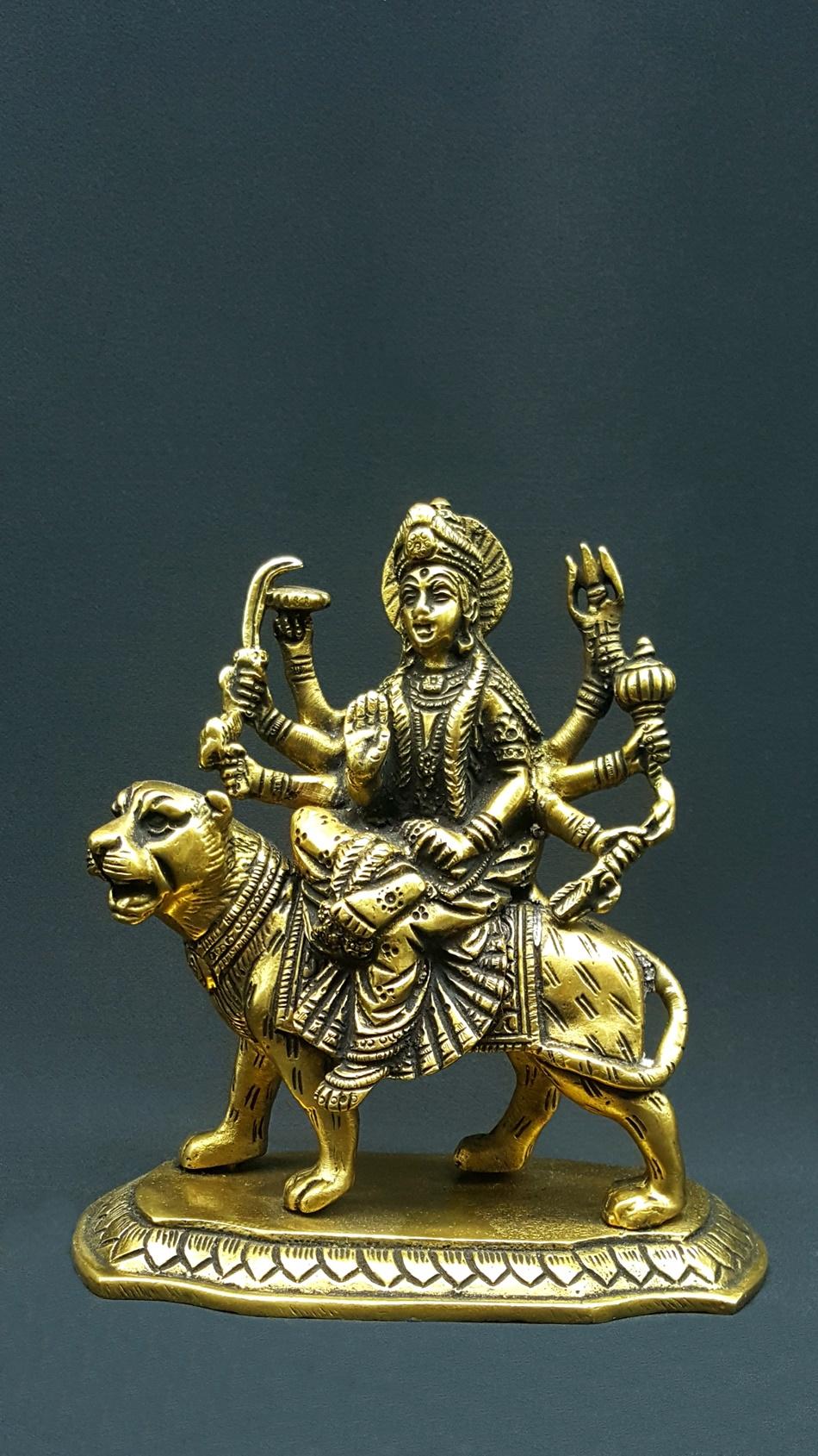 Purpledip Brass Ganesha Small Statue in Reclining//Sleeping Posture Unique Avatar of Hindu Elephant God Indian D/Ã/©cor Religious Gift 11041